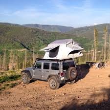 overland jeep tent first rooftop tent adventure near vail co 2013 jk with gobi