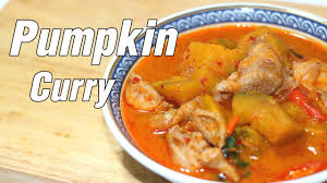 Thai Red Pumpkin Curry Recipe by Chicken And Pumpkin Curry Youtube
