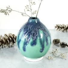 ceramic pomegranate bud vase good luck for your home by marietta
