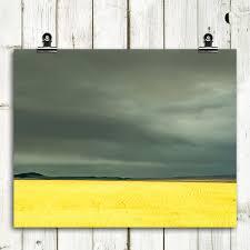 montana home decor landscape wheat field large wall art yellow gray montana