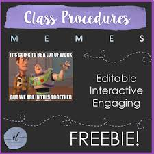Editable Memes - classroom procedures using memes editable by courtney lucas tpt