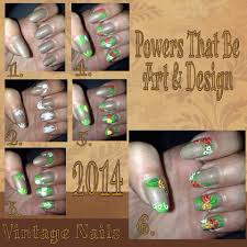 powers that be art and design nail art done by hand vintage