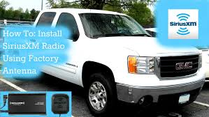 Radio S Car Antenna Adapter How To Install A Satellite Radio Using Existing Factory Xm Antenna