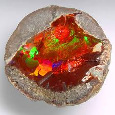 african green opal rare red orange opal from ethiopia rocks and minerals