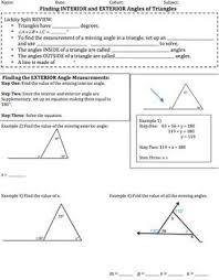 What Is Interior And Exterior Angles Die Besten 25 Interior And Exterior Angles Ideen Auf Pinterest