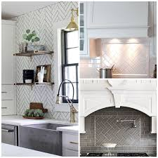 herringbone kitchen backsplash 6 elegant varieties of kitchen backsplash tile big chill