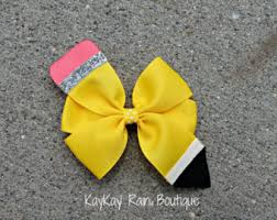 back to school hair bows back to school bow etsy