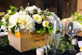 flowers wine wedding wednesday flowers in wine boxes flirty fleurs the