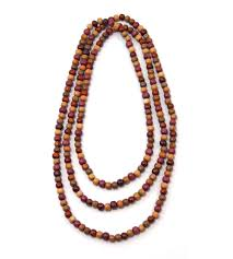 long beads necklace images Tica surf tribal exotic wood necklace extra long multicolor jpg