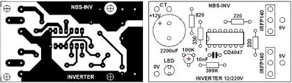 layout pcb inverter layout pcb rangkaian inverter dc ke ac sederhana pembelajaran