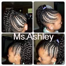 young black american women hair style corn row based little girl cornrow twist ponytail hairstyle cute styles