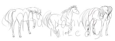 sketches of horses on requests by margony on deviantart