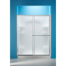 glass sliding shower doors sterling standard 59 in x 56 7 16 in framed sliding tub and