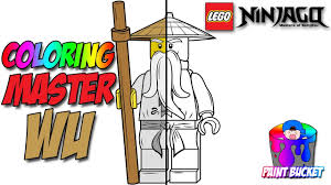 lego ninjago master wu minifigure lego coloring pages for kids