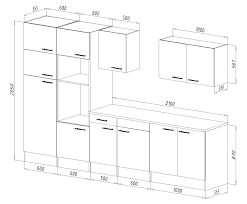 küche arbeitshöhe respekta einbau küche küchenzeile 330 cm eiche york schwarz