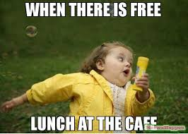 Meme Free - when there is free lunch at the cafe meme chubby bubbles girl