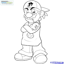 gangsta stewie coloring pages