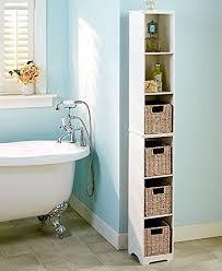 Linen Tower Cabinets Bathroom - slim narrow storage tower cabinet bathroom tall adjustable shelves