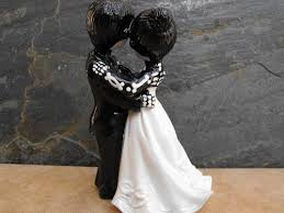 skeleton wedding cake toppers day of the dead wedding cake topper skeleton 4 inches