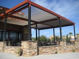 Backyard Shade Canopy by Commercial Aluminum Louvered Roof Patio Cover Canopy Landscape