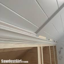 Installing Crown Molding On Cabinets Crown Moulding On Angled Ceiling Sawdust