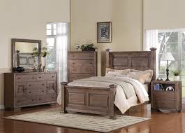 classic distressed wood bedroom furniture idea for vintage room