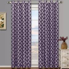 Lavender Blackout Curtains by Meridian Thermal Grommet Room Darkening Curtains Set Of 2 Panels