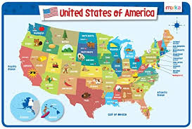 kids placemats usa map educational kids placemats laminated and