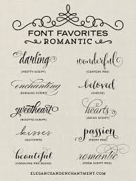 a collection of romantic inspired fonts from elegance and