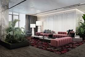 luxurious living room design with dark interior style roohome