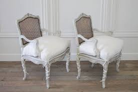 Louis 15th Chairs Pair Of 19th Century French Cane Louis Xv Chairs With Linen Slip