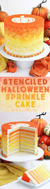 halloween cake stencils stenciled halloween sprinkle cake sugarhero