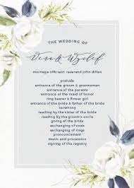 programs for wedding ceremony wedding programs match your colors style free basic invite