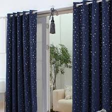 Navy Blackout Curtains Outer Space Style Navy Cotton Blackout Curtains With Buy