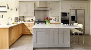 oak shaker kitchen island kitchen design