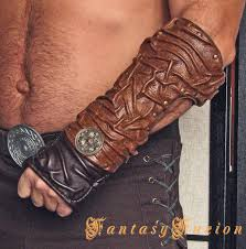 medieval gladiator spartacus forearm warrior armor leather