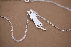 Personalized Cat Necklace 925 Sterling Silver Cat Necklace Cute Cat Necklace Personalized