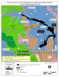 Alamosa Colorado Map by Maps For The Designation Of Critical Habitat For The Southwestern