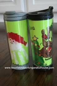 handmade gift idea handprint footprint santa reindeer