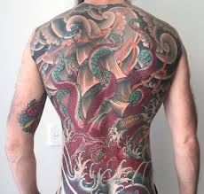 tattoo back japanese 43 great japanese octopus tattoo designs collections golfian com