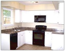 Kitchen Cabinets El Paso Texas Appliance Kitchen White Cabinets Black Appliances Creamy And Or