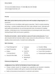 monster com resume templates resume formats and examples sample high resume template