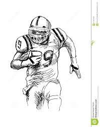 american football player stock vector image 57101479