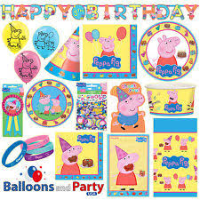 peppa pig party supplies peppa pig birthday greeting cards party supply ebay