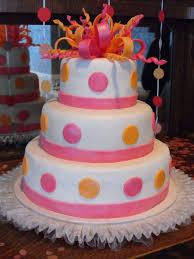 pink orange 3 tiered round cake bridal shower cake cakecentral com