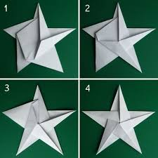 folding 5 pointed origami ornaments paper