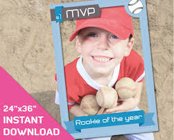 photo frame party favors baseball card frame photo props 24x36 baseball