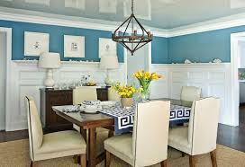 Dining Room With Wainscoting Gray Dining Room With Greek Key Wainscoting Contemporary