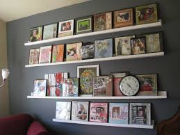 wall of shelves ana white gallery shelves wall of awesome diy projects