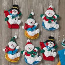 bucilla seasonal felt ornament kits snow day day